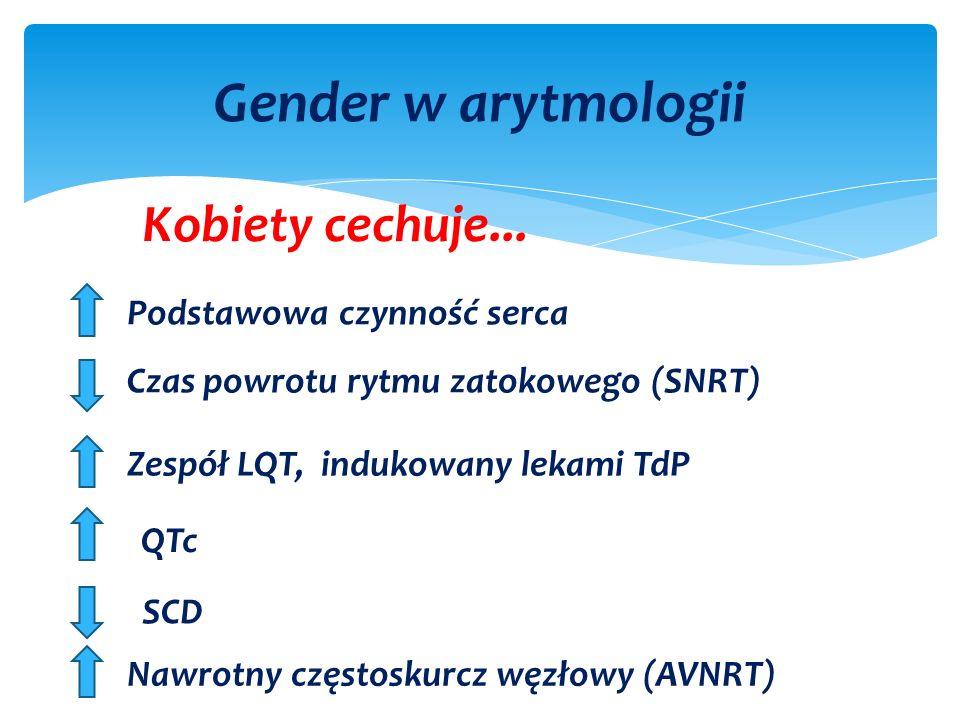 Gender w arytmologii Kobiety cechuje...