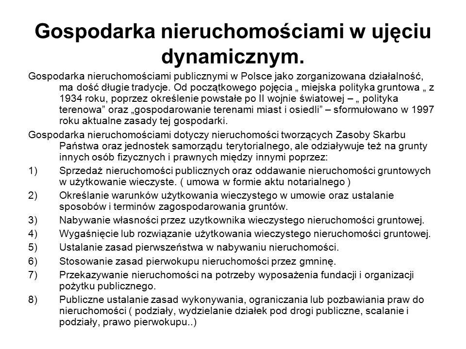 Gospodarka nieruchomościami w ujęciu dynamicznym. Gospodarka nieruchomościami publicznymi w Polsce jako zorganizowana działalność, ma dość długie trad