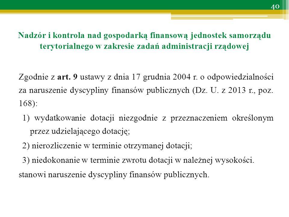 Zgodnie z art. 9 ustawy z dnia 17 grudnia 2004 r.