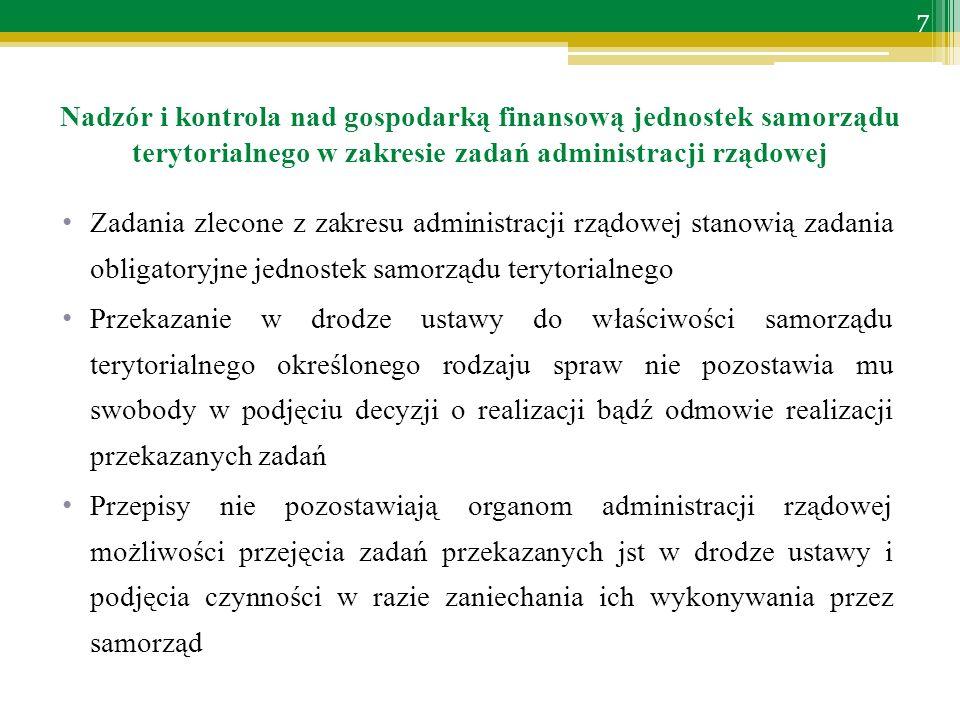 Zakres kontroli dotacji i wydatków na zadania zlecone – cd.: przestrzeganie zasad gospodarowania środkami publicznymi określonych art.