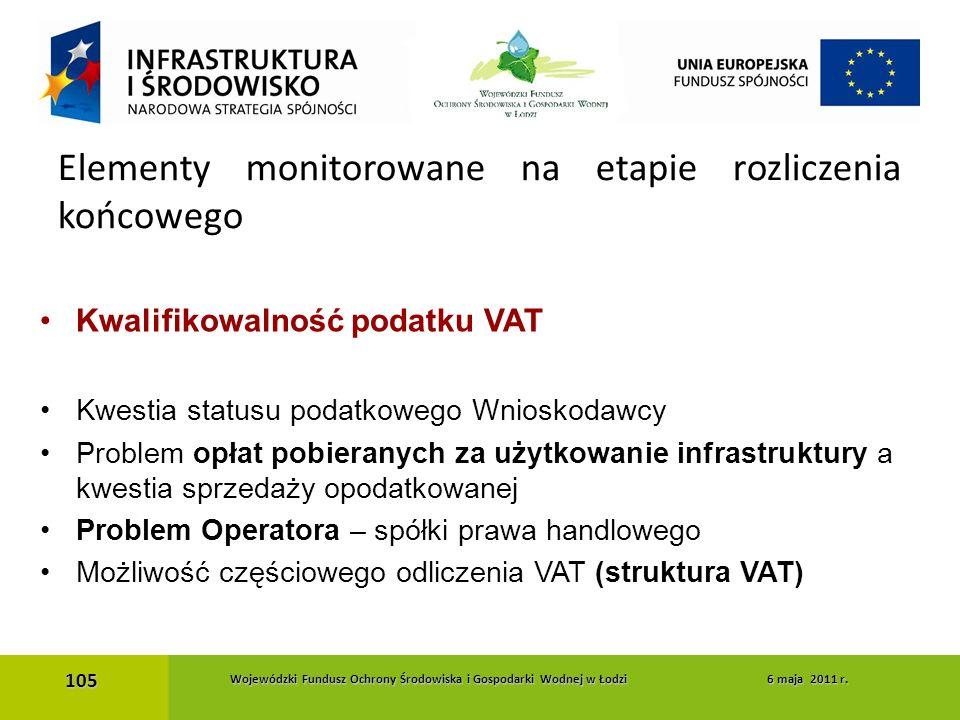 Kwalifikowalność podatku VAT Kwestia statusu podatkowego Wnioskodawcy Problem opłat pobieranych za użytkowanie infrastruktury a kwestia sprzedaży opod