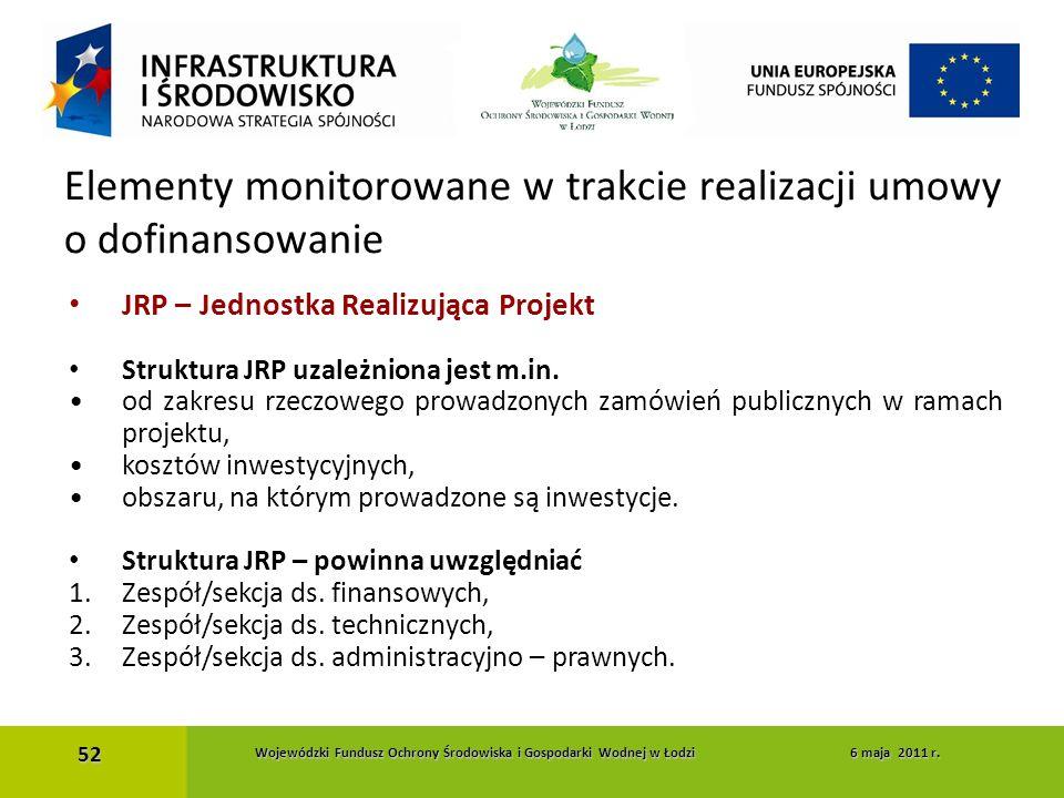 JRP – Jednostka Realizująca Projekt Struktura JRP uzależniona jest m.in. od zakresu rzeczowego prowadzonych zamówień publicznych w ramach projektu, ko