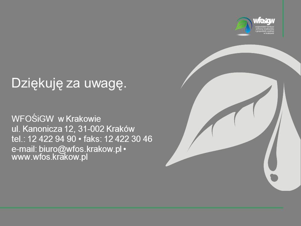 WFOŚiGW w Krakowie ul.