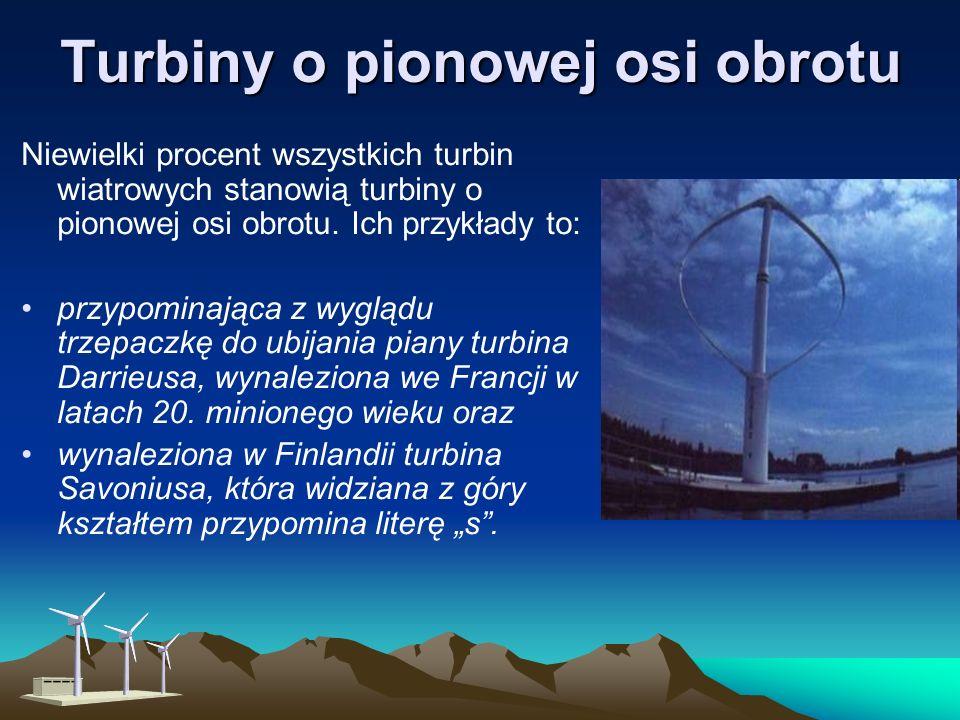 By osiągnąć maksymalną efektywność, turbiny o poziomej osi obrotu muszą być zwrócone dokładnie w kierunku wiatru, umiejscowienie wirnika w stosunku do