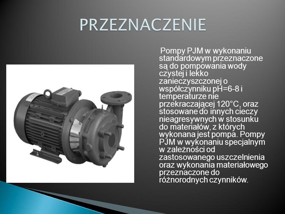 Posiadając dane:  Q = 26 m 3 /h,  H = 3,5 m słupa wody (z ćwiczenia projektowego nr 5) dokonano doboru pompy 80PJM130 o następujących parametrach: - wydajność pompy Q = 30 m 3 /h, - wysokość podnoszenia pompy H = 3,7 m - moc silnika Ns = 0,55 kW