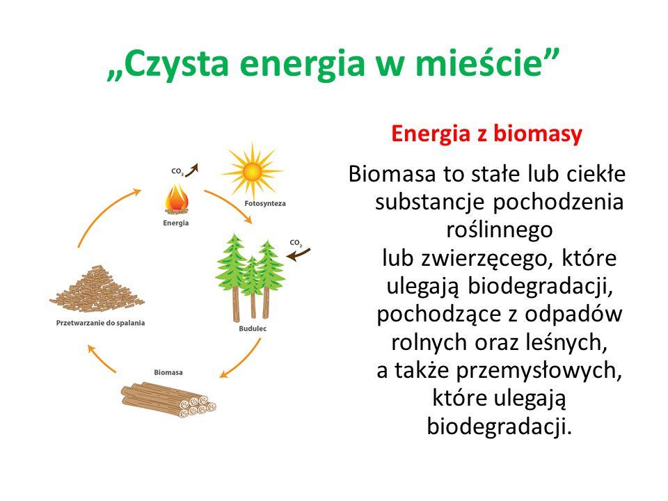 Energia z biomasy Biomasa to stałe lub ciekłe substancje pochodzenia roślinnego lub zwierzęcego, które ulegają biodegradacji, pochodzące z odpadów rol