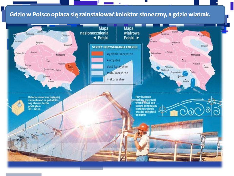 Gdzie w Polsce opłaca się zainstalować kolektor słoneczny, a gdzie wiatrak.