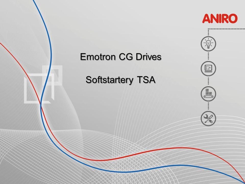 Softstartery TSA CG Drives ANIR O Tabela typoszeregów