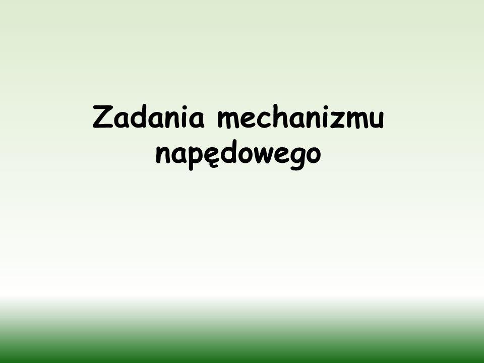 Zadania mechanizmu napędowego
