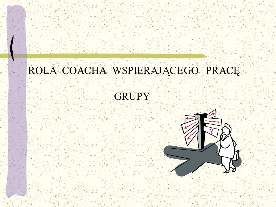 ROLA COACHA WSPIERAJĄCEGO PRACĘ GRUPY