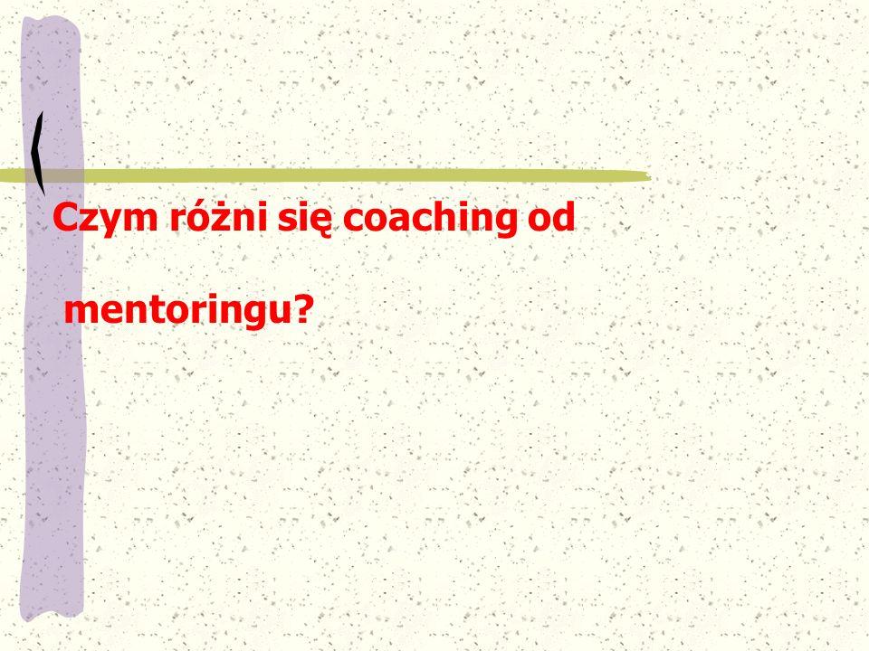 Czym różni się coaching od mentoringu?