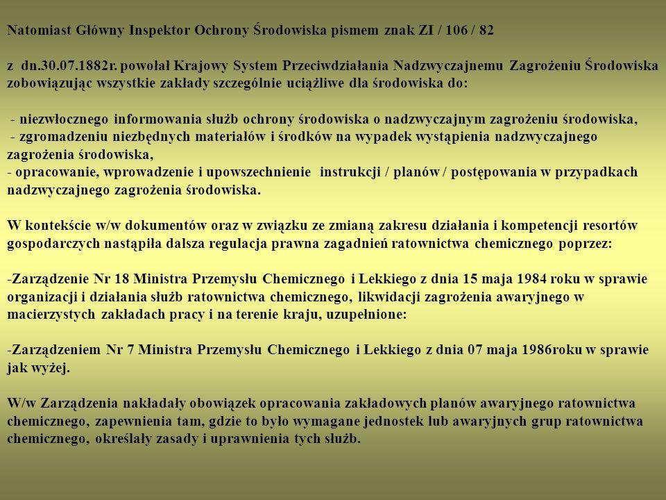"""Obejmowało to zakłady: 01.Zakłady Chemiczne """"Oświęcim w Oświęcimiu 02."""