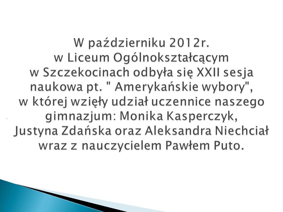 W październiku 2012r. w Liceum Ogólnokształcącym w Szczekocinach odbyła się XXII sesja naukowa pt.