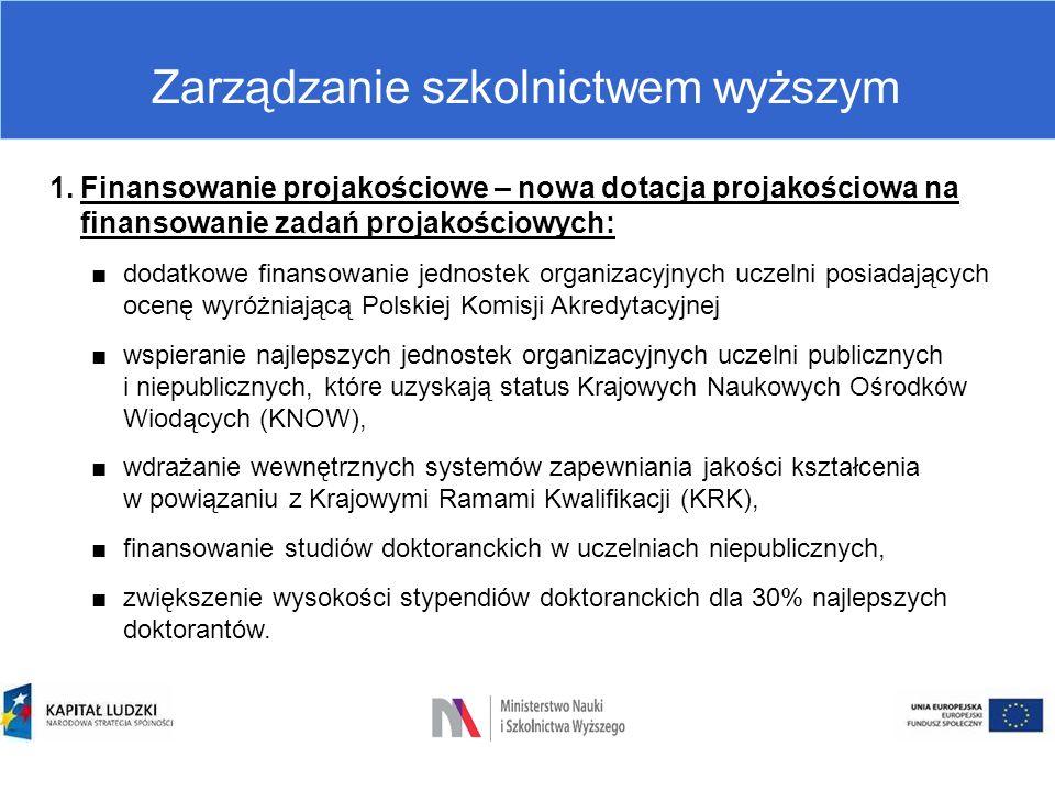 Zarządzanie szkolnictwem wyższym  Stosunek pracy pracowników w uczelni Przepisy przejściowe (art.