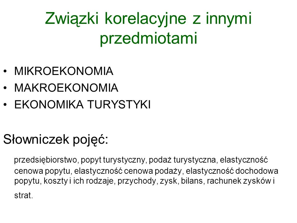 V.Struktury organizacyjne i finanse przedsiębiorstwa turystycznego.
