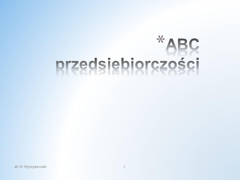 dr W.Wyrzykowski 222 Obowiązek prowadzenia ewidencji przy zastosowaniu kas rejestrujących dotyczy podatników, którzy prowadzą działalność określoną w art.