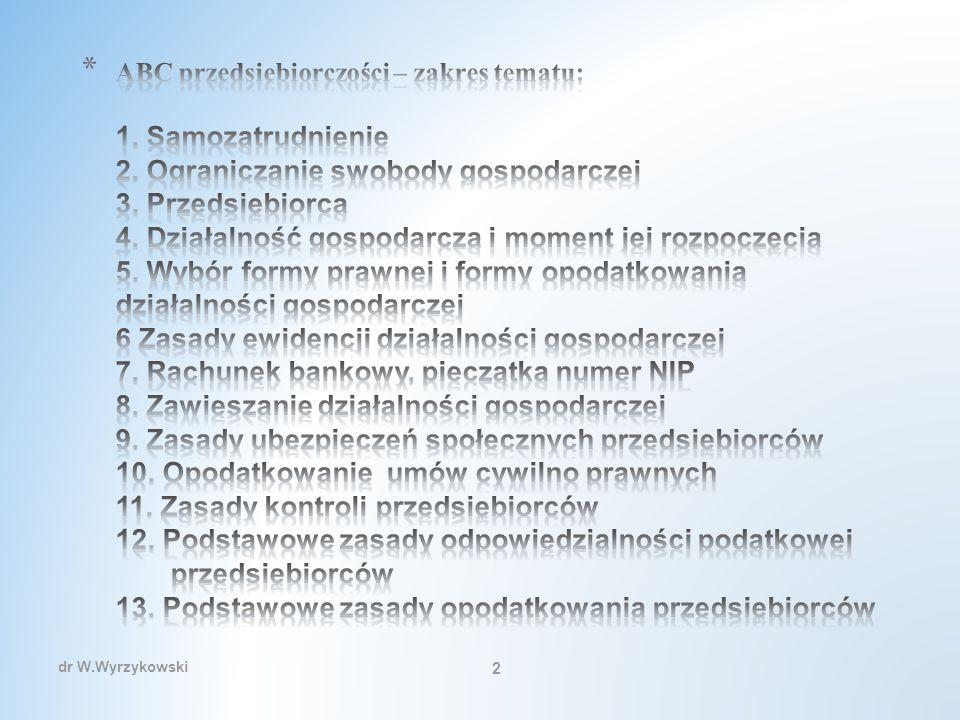 Przedsiębiorczość w UE – moment rozpoczęcia działalności Podstawowe zasady prowadzenia działalności gospodarczej Zasada informacji o towarze Przedsiębiorca wprowadzający towar do obrotu na terytorium Rzeczypospolitej Polskiej jest obowiązany do zamieszczenia na towarze, jego opakowaniu, etykiecie, instrukcji lub do dostarczenia w inny, zwyczajowo przyjęty sposób, pisemnych informacji w języku polskim: określających firmę przedsiębiorcy i jego adres, umożliwiających identyfikację towaru Zasada ochrony obrotu gotówkowego Dokonywanie lub przyjmowanie płatności związanych z wykonywaną działalnością gospodarczą następuje za pośrednictwem rachunku bankowego przedsiębiorcy w każdym przypadku, gdy: 1) stroną transakcji, z której wynika płatność, jest inny przedsiębiorca oraz 2) jednorazowa wartość transakcji, bez względu na liczbę wynikających z niej płatności, przekracza równowartość 15.000 euro przeliczonych na złote według średniego kursu walut obcych ogłaszanego przez Narodowy Bank Polski ostatniego dnia miesiąca poprzedzającego miesiąc, w którym dokonano tranzakcji