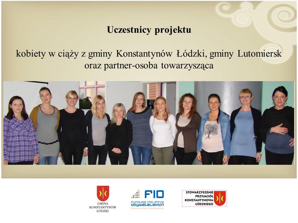 Uczestnicy projektu kobiety w ciąży z gminy Konstantynów Łódzki, gminy Lutomiersk oraz partner-osoba towarzysząca