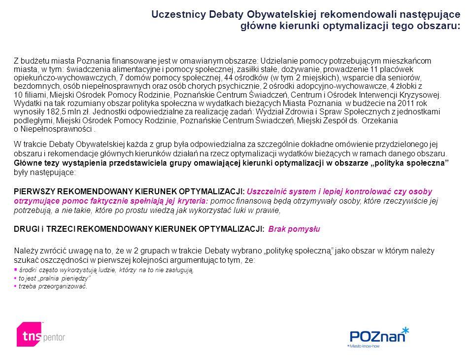 Z budżetu miasta Poznania finansowane jest w omawianym obszarze: Udzielanie pomocy potrzebującym mieszkańcom miasta, w tym: świadczenia alimentacyjne