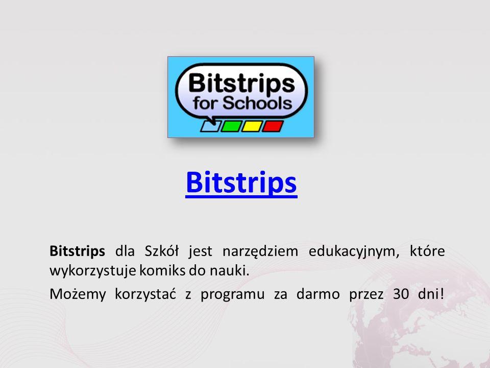 Bitstrips Bitstrips dla Szkół jest narzędziem edukacyjnym, które wykorzystuje komiks do nauki.