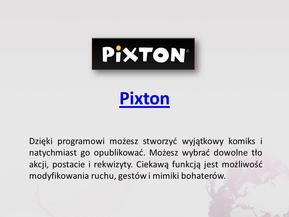 Pixton Dzięki programowi możesz stworzyć wyjątkowy komiks i natychmiast go opublikować.