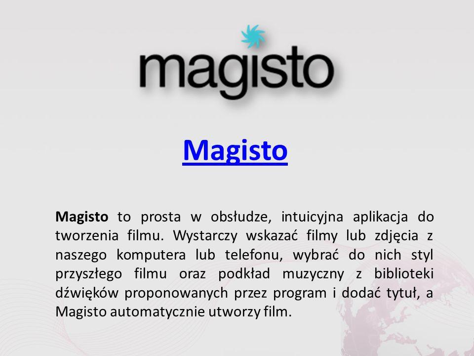 Magisto Magisto to prosta w obsłudze, intuicyjna aplikacja do tworzenia filmu.