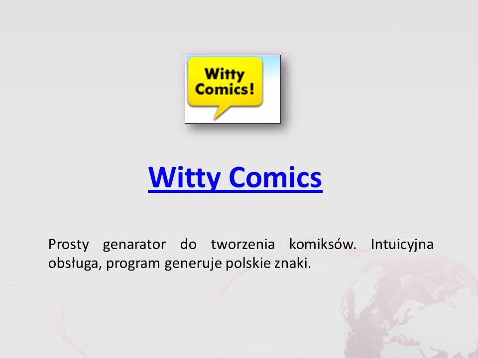 Witty Comics Prosty genarator do tworzenia komiksów.