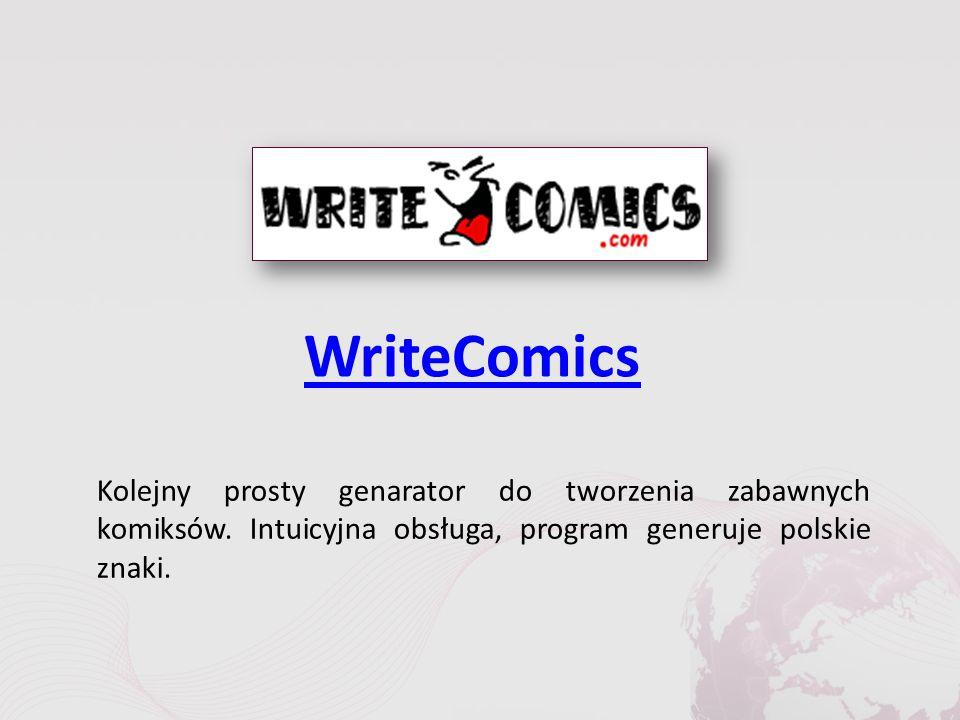 WriteComics Kolejny prosty genarator do tworzenia zabawnych komiksów.