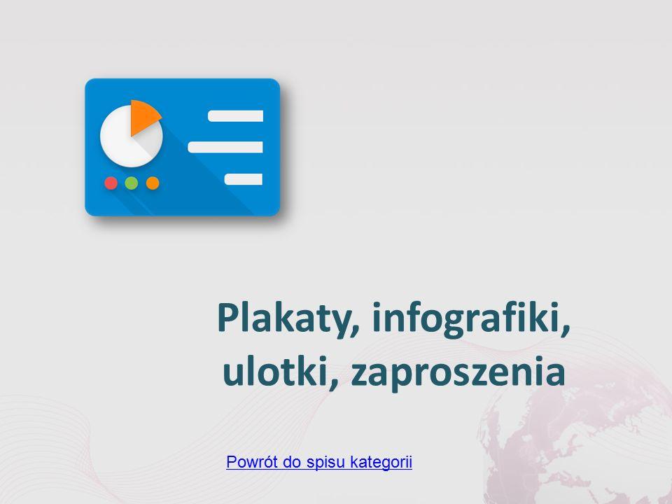 Plakaty, infografiki, ulotki, zaproszenia Powrót do spisu kategorii