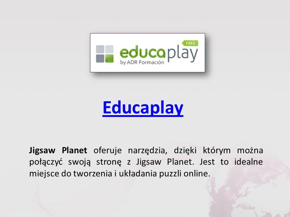 Educaplay Jigsaw Planet oferuje narzędzia, dzięki którym można połączyć swoją stronę z Jigsaw Planet.