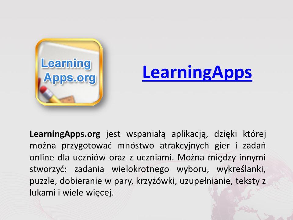 LearningApps LearningApps.org jest wspaniałą aplikacją, dzięki której można przygotować mnóstwo atrakcyjnych gier i zadań online dla uczniów oraz z uczniami.