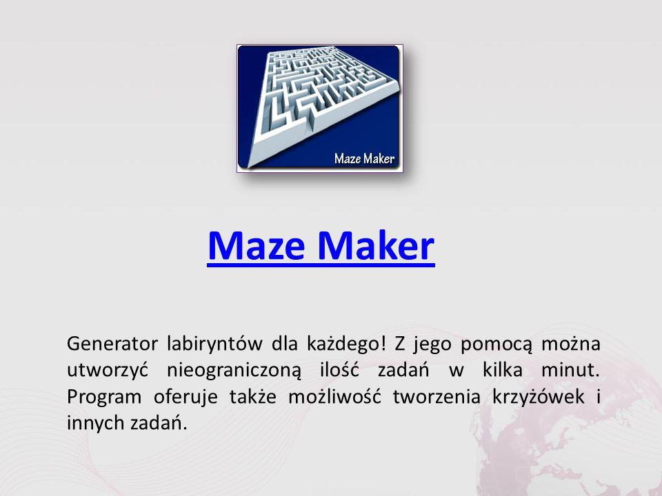 Maze Maker Generator labiryntów dla każdego.