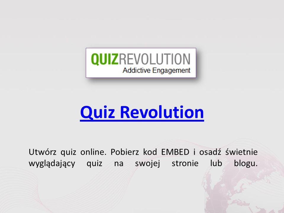 Quiz Revolution Utwórz quiz online.