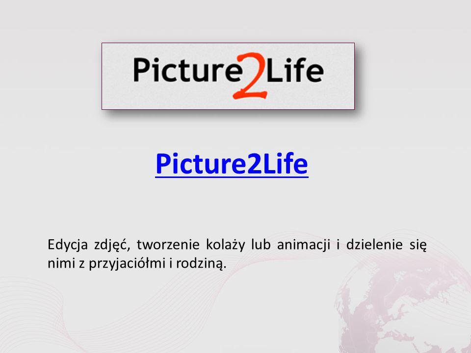 Picture2Life Edycja zdjęć, tworzenie kolaży lub animacji i dzielenie się nimi z przyjaciółmi i rodziną.