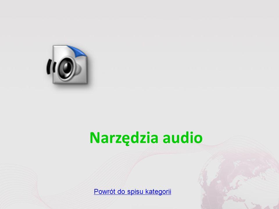 Narzędzia audio Powrót do spisu kategorii