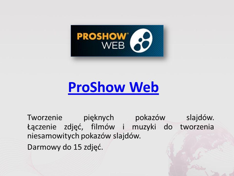 ProShow Web Tworzenie pięknych pokazów slajdów.
