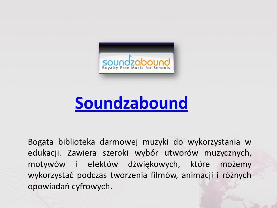 Soundzabound Bogata biblioteka darmowej muzyki do wykorzystania w edukacji.