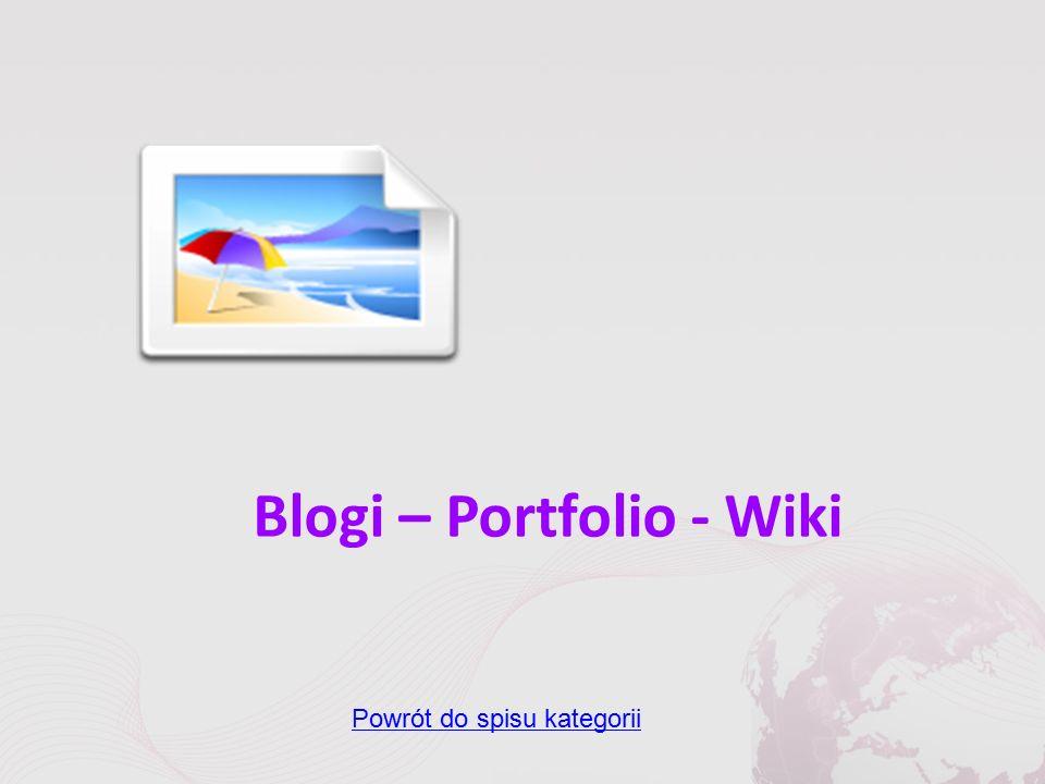 Blogi – Portfolio - Wiki Powrót do spisu kategorii
