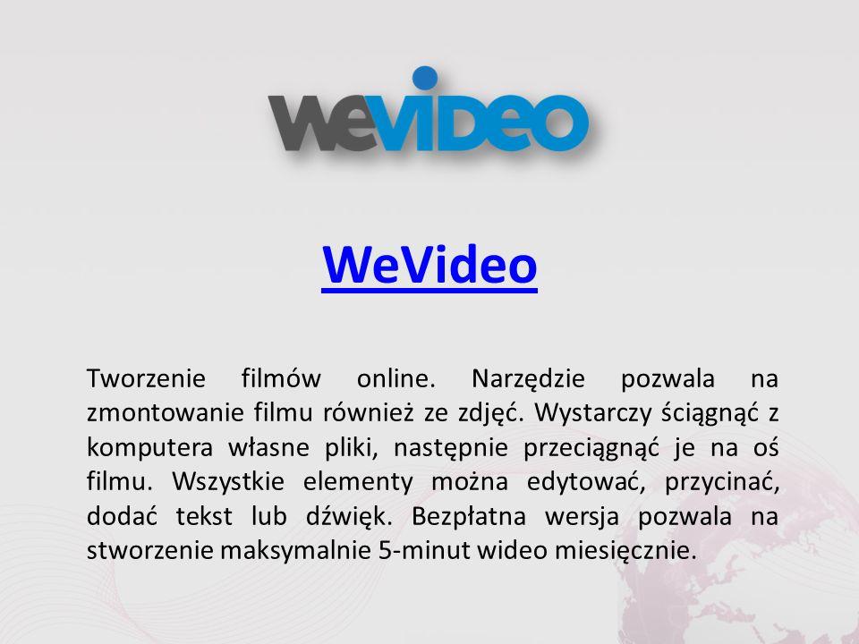 WeVideo Tworzenie filmów online. Narzędzie pozwala na zmontowanie filmu również ze zdjęć.