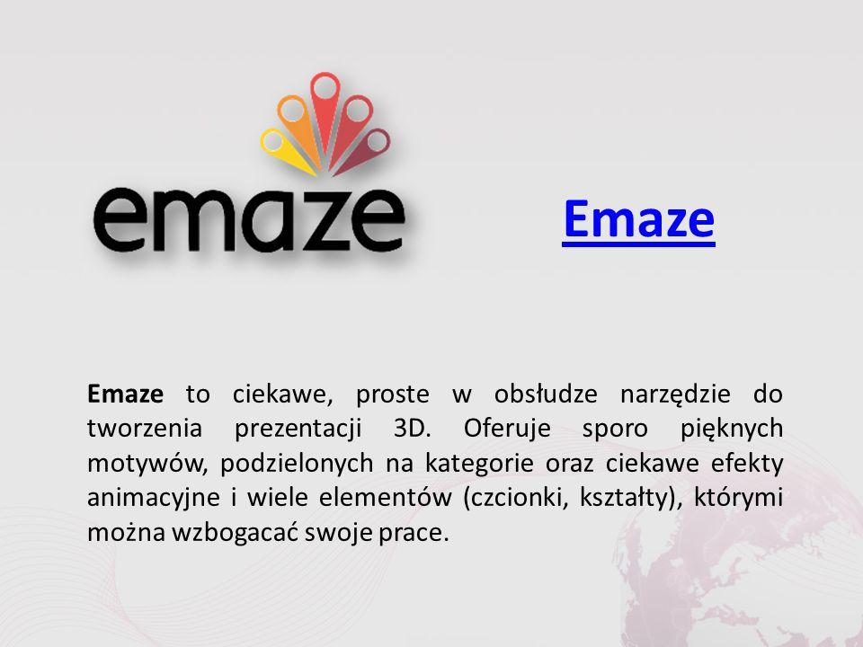 Emaze Emaze to ciekawe, proste w obsłudze narzędzie do tworzenia prezentacji 3D.