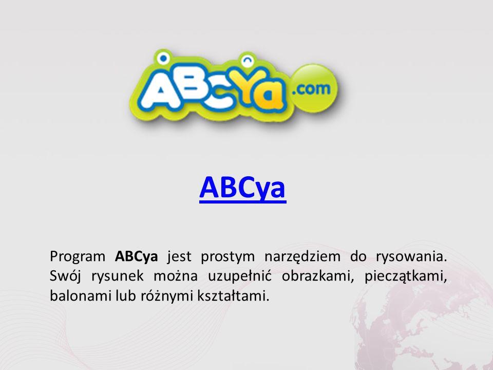 ABCya Program ABCya jest prostym narzędziem do rysowania.