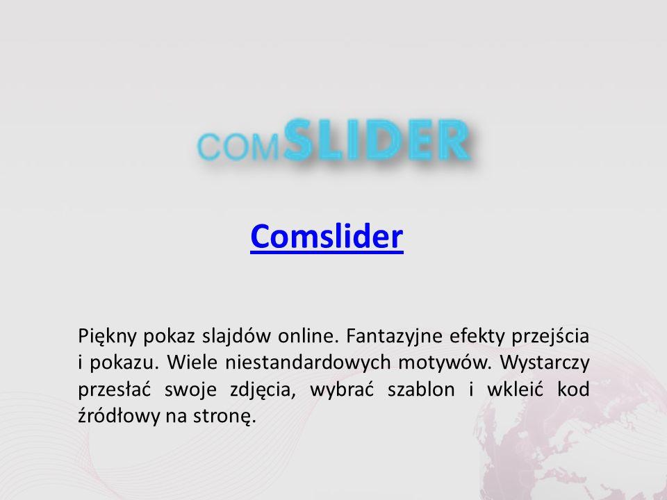 Comslider Piękny pokaz slajdów online. Fantazyjne efekty przejścia i pokazu.