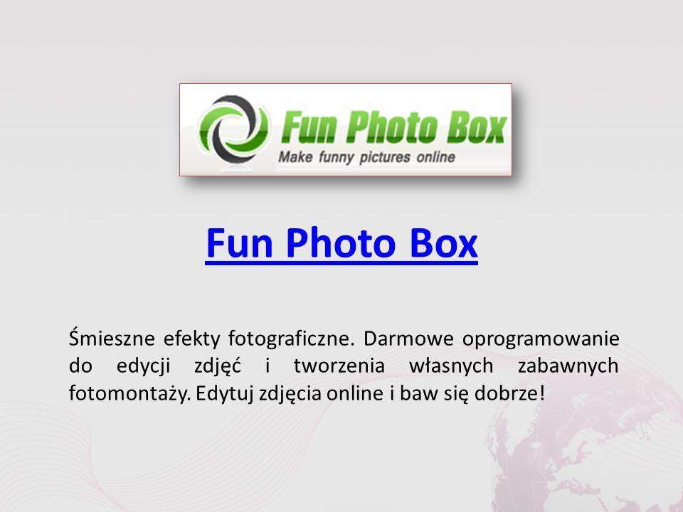 Fun Photo Box Śmieszne efekty fotograficzne.