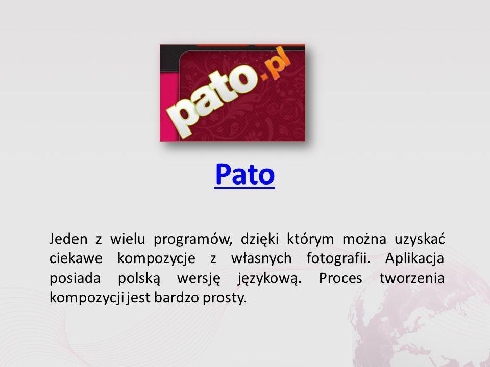 Pato Jeden z wielu programów, dzięki którym można uzyskać ciekawe kompozycje z własnych fotografii.