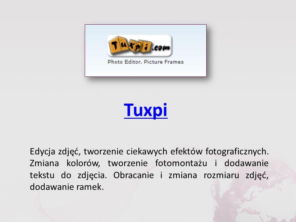 Tuxpi Edycja zdjęć, tworzenie ciekawych efektów fotograficznych.
