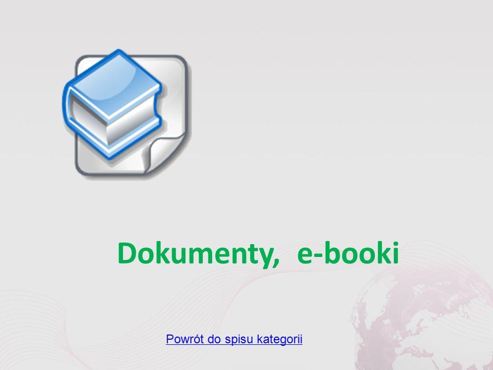 Dokumenty, e-booki Powrót do spisu kategorii