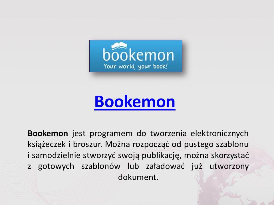 Bookemon Bookemon jest programem do tworzenia elektronicznych książeczek i broszur.