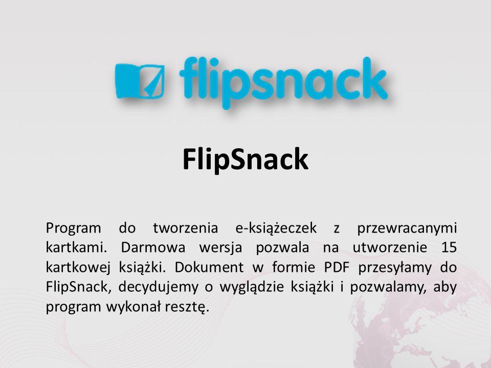 FlipSnack Program do tworzenia e-książeczek z przewracanymi kartkami.