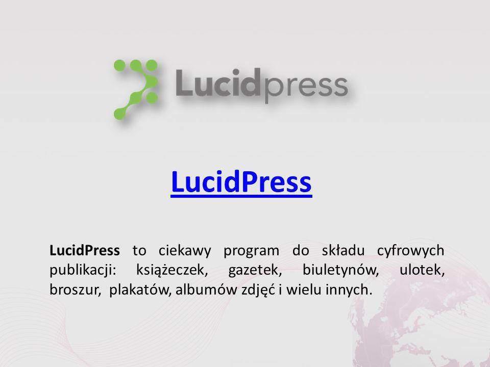 LucidPress LucidPress to ciekawy program do składu cyfrowych publikacji: książeczek, gazetek, biuletynów, ulotek, broszur, plakatów, albumów zdjęć i wielu innych.