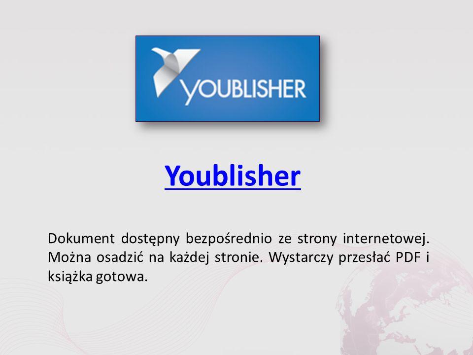 Youblisher Dokument dostępny bezpośrednio ze strony internetowej.